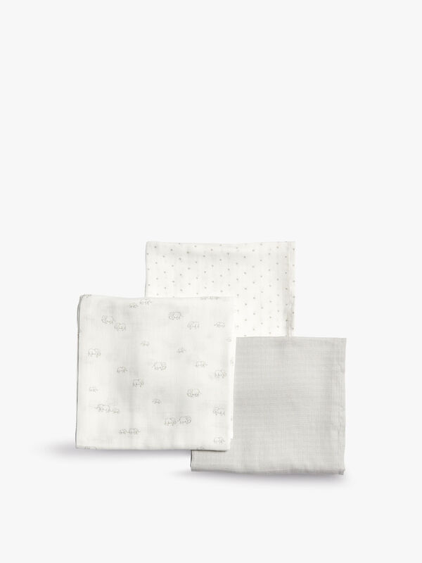 Welcome To The World Muslin Squares - 3 Pack