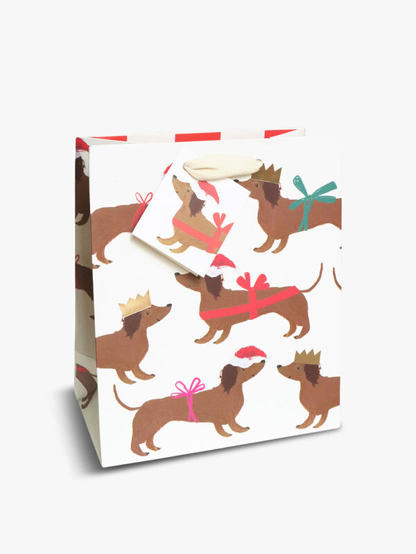 Christmas Sausage Dogs Medium Bag