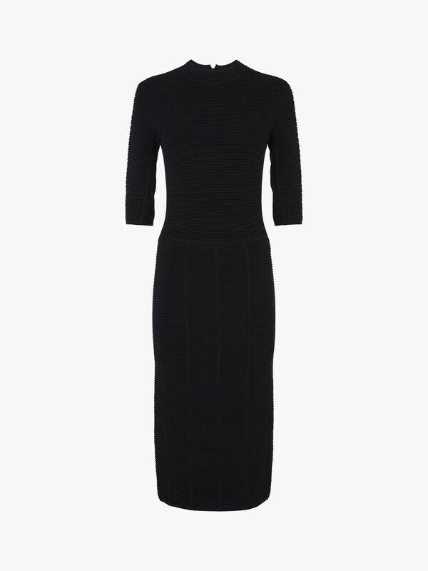 Ribbed 3/4 Sleeve Dress