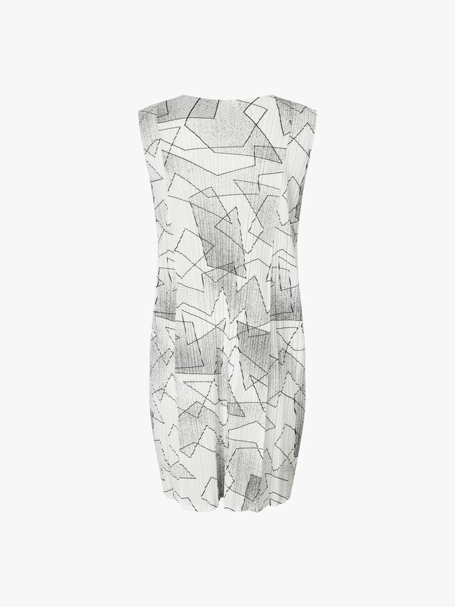 Cut Lines Sleeveless Dress