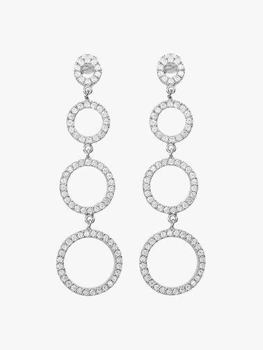 Triple Open Circle Drop Earrings