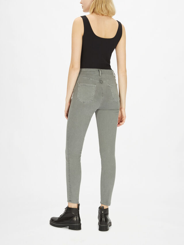 Leenah High Rise Ankle Skinny Jeans
