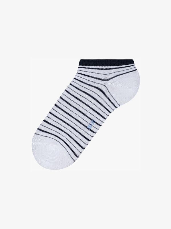 Stripe Shimmer Sneaker Socks