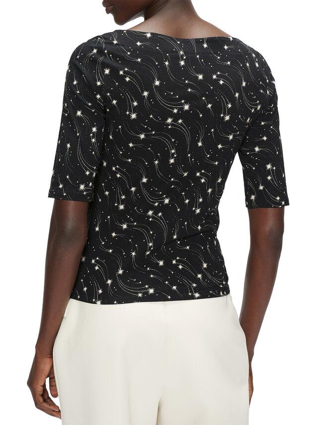 STAREZ Slash neck star print top