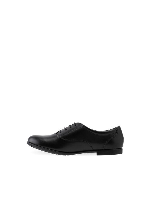Talent Black Leather School Shoes