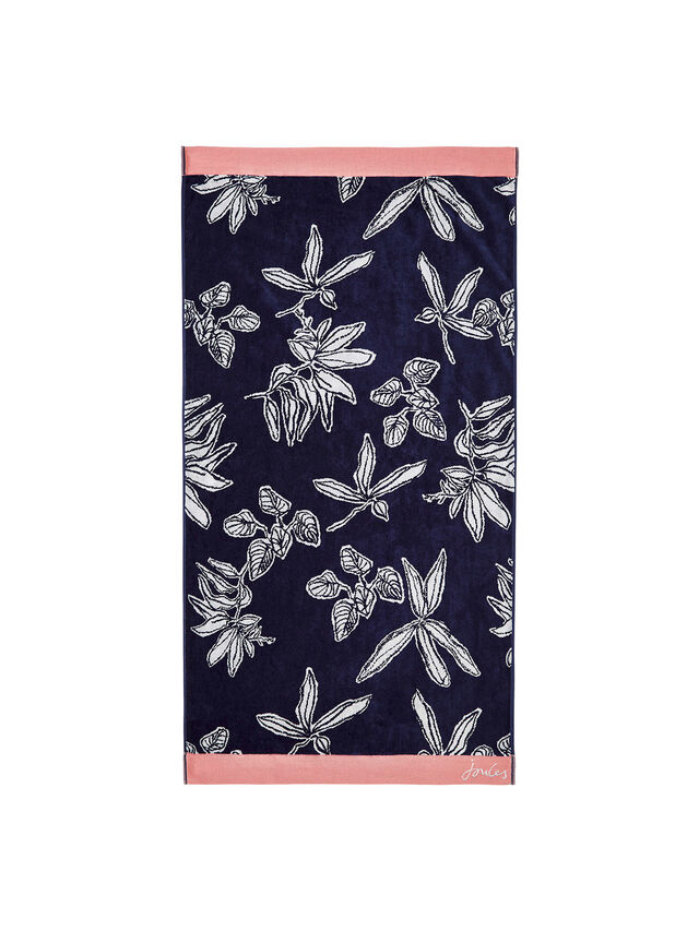 Crayon Floral Bath Towel