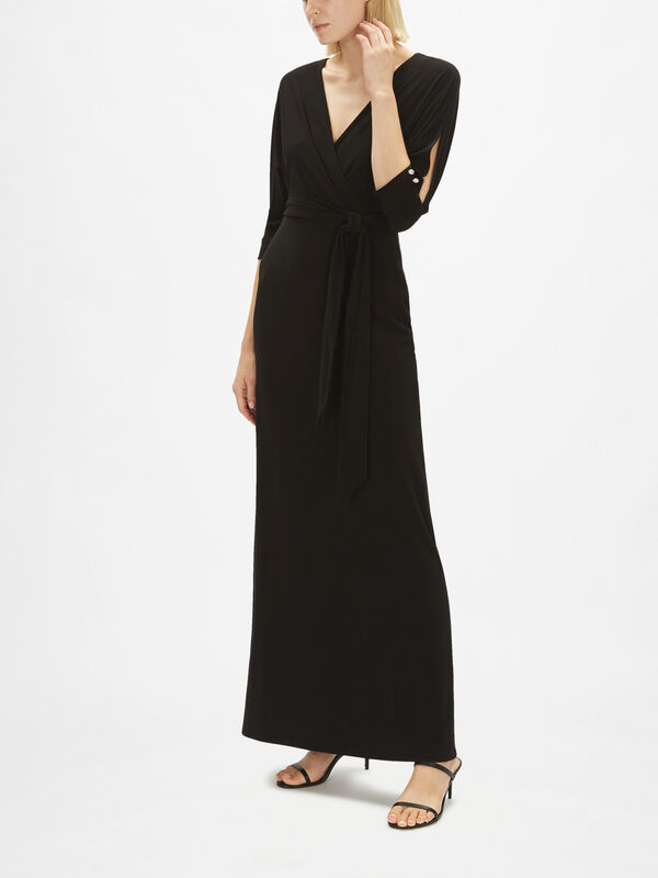 Dennie Wrap Over Evening Dress