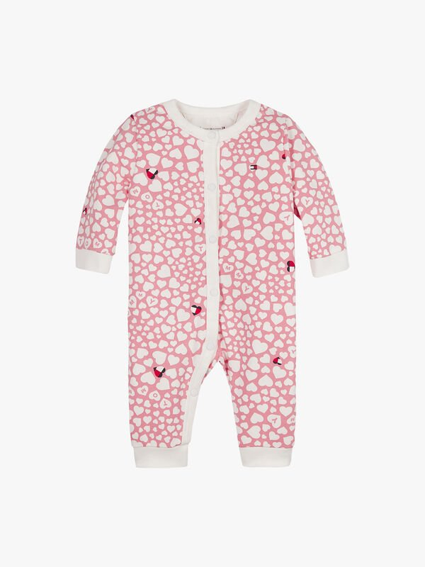 Heart Print Coverall