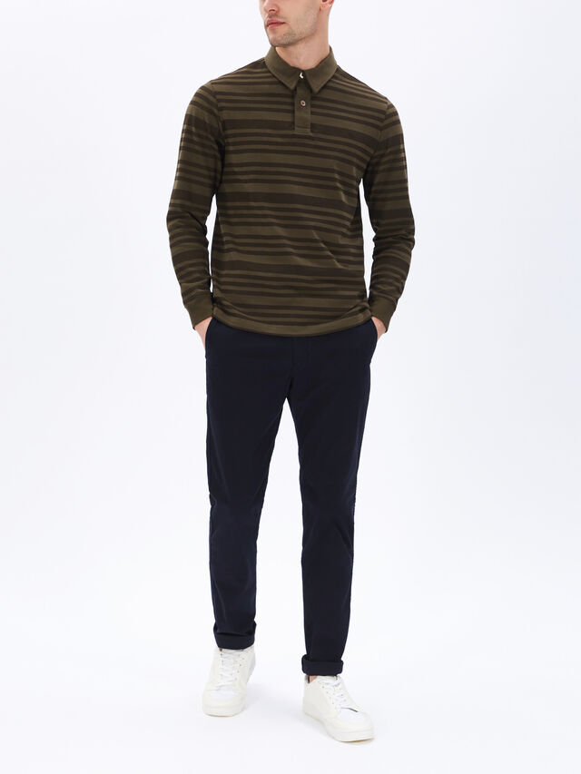 Long Sleeve Stripe Rugger