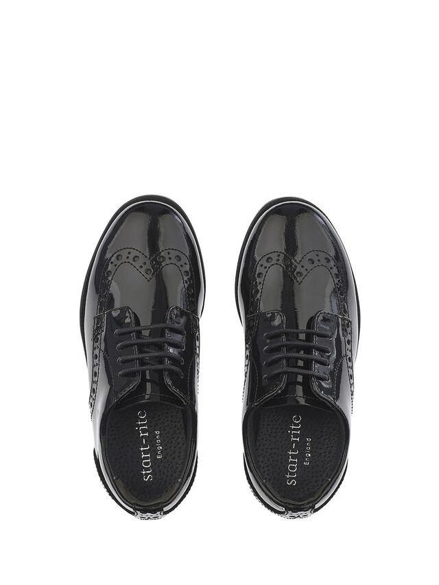 Brogue Pri Black Patent School Shoes