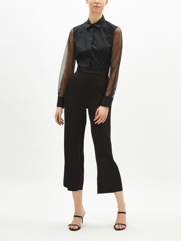 Soft Crop Straight Trouser