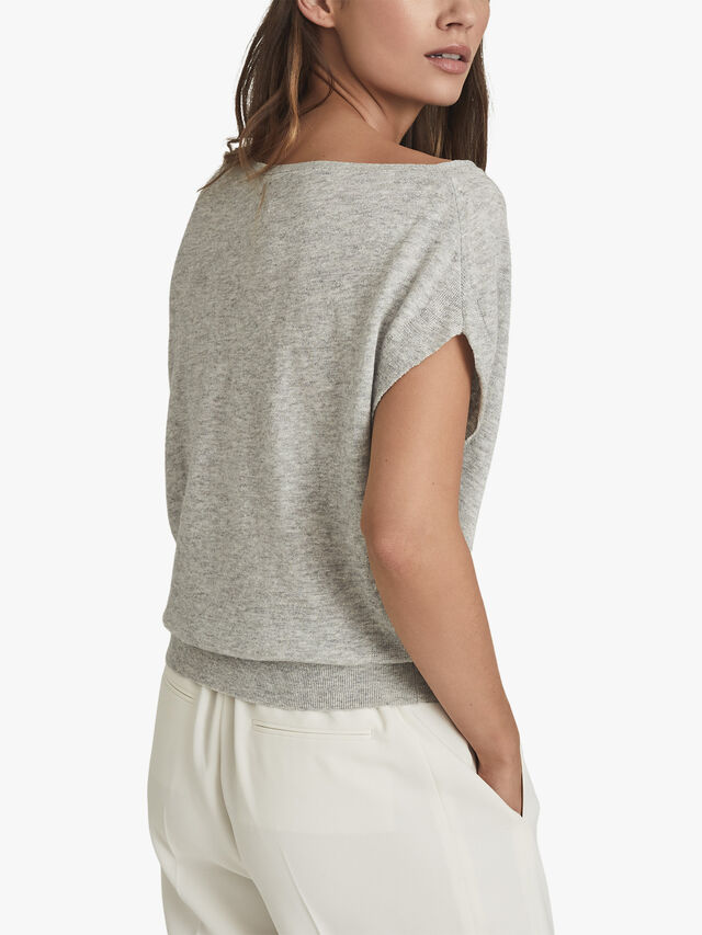 OLIVIA Asymmetric Fine Knit Top