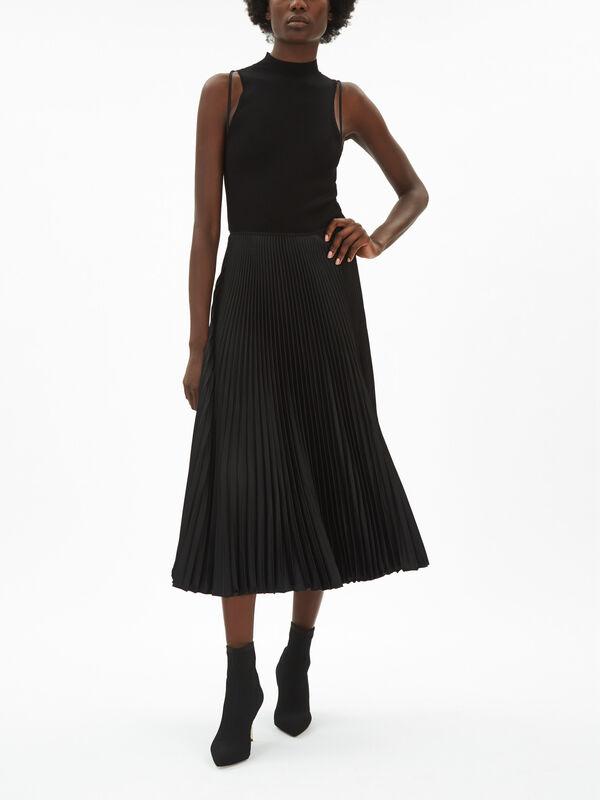 Wynna Pleated Skirt Midi Dress