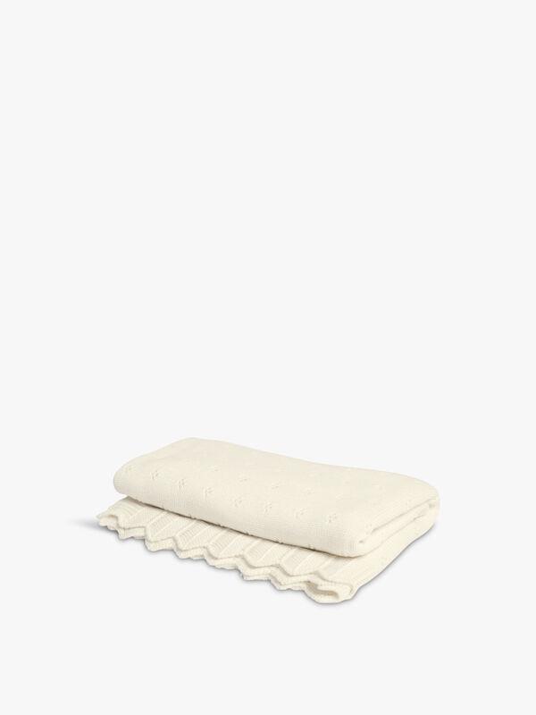 Pointelle Blanket Cream