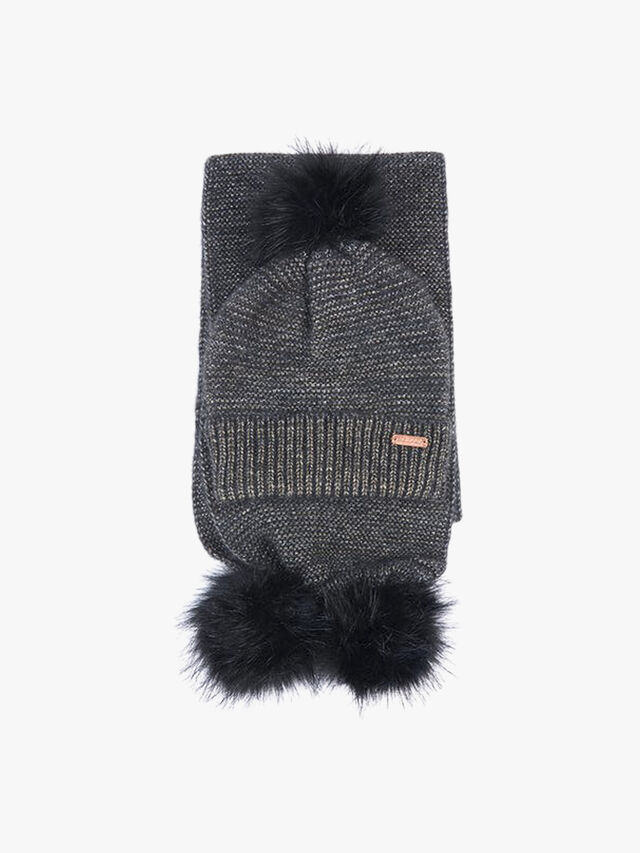 Barbour International Sparkle Beanie and Scarf Gift Set