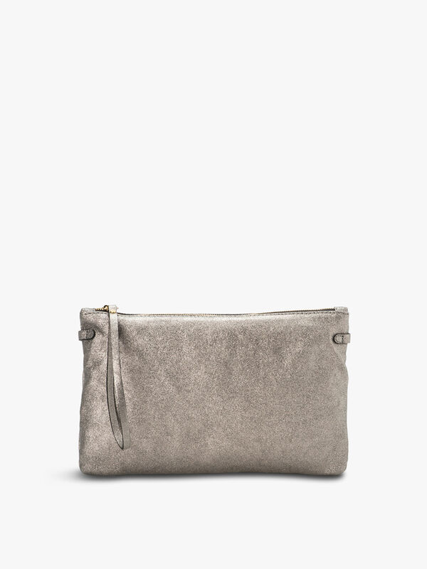 Hermy Metallic Zip Top Pouch