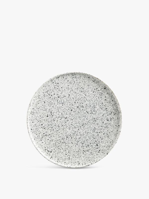 Caviar Speckle High Rim Plate