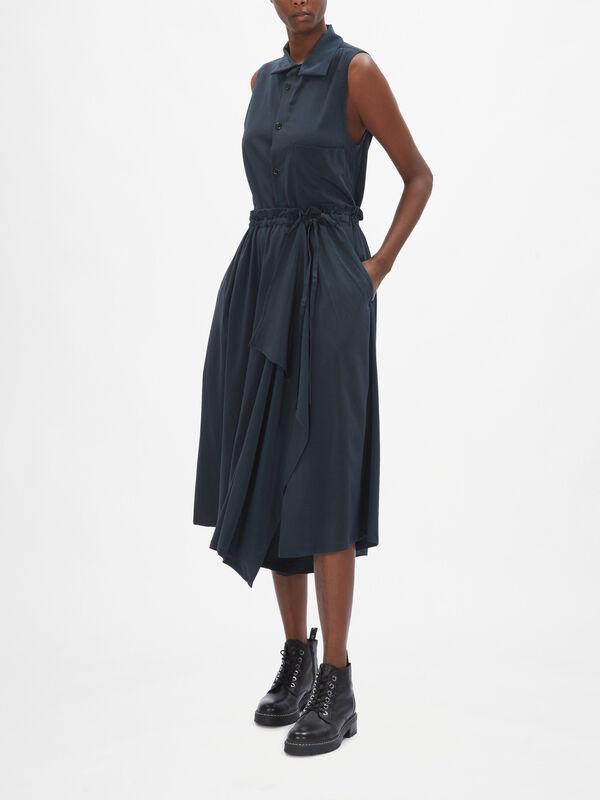Slit Gather Tie Skirt