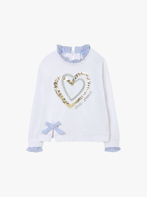 Sequin Hearts Sweatshirt