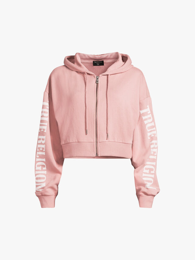 Oversized Arch Cropped Hoodie