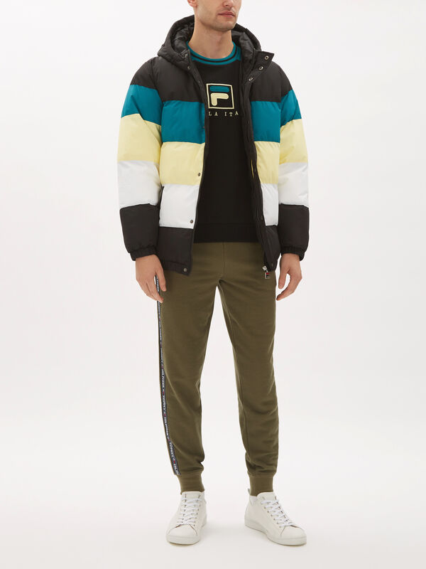 Giovanni Colour Block Puffa Jacket