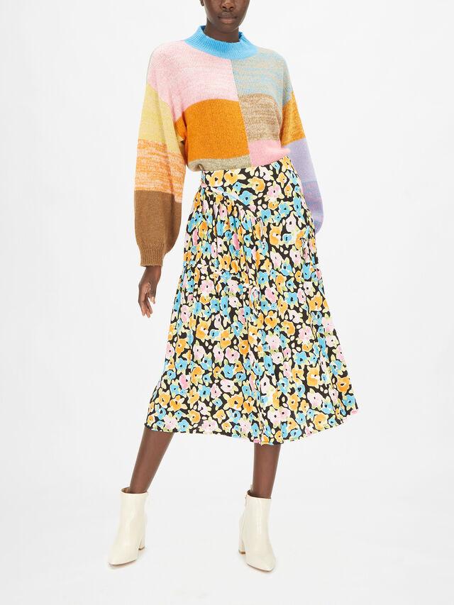 Paloma Floral Midi Skirt