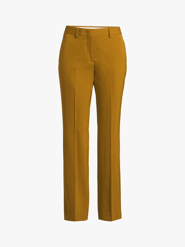 Straight Fit Wool Trouser
