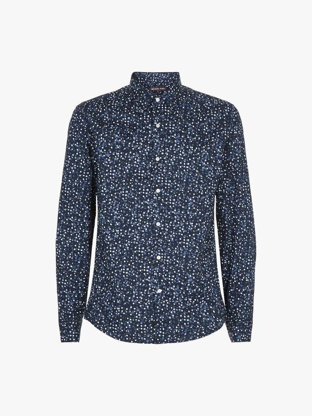 Slim Paint Splatter Print Shirt