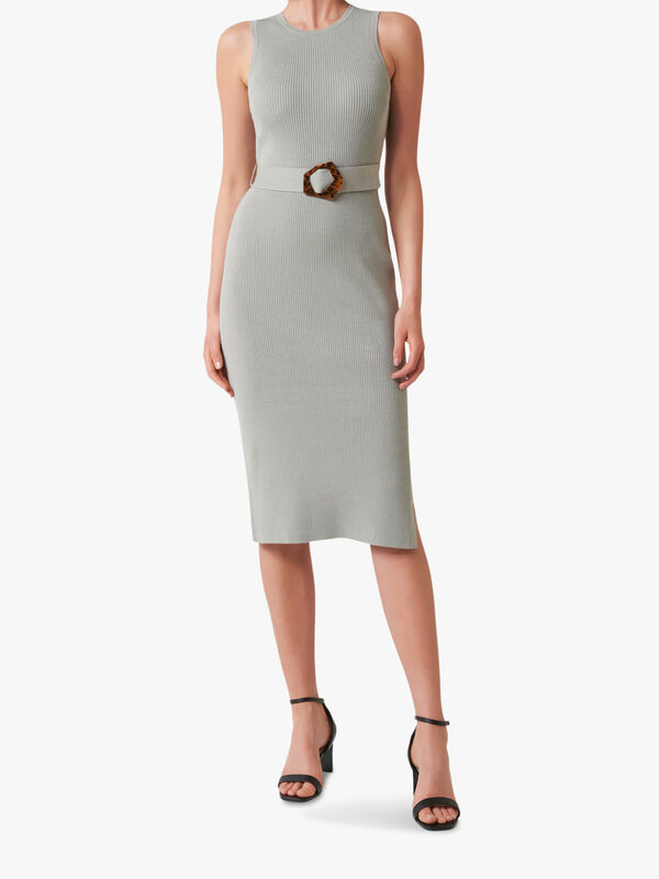 Imogen Sleeveless Midi Knit Dress