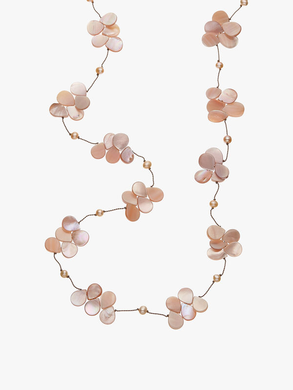 Mother of Pearl Teardrop Necklace