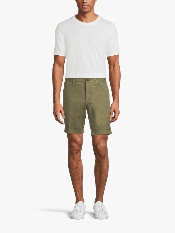 Nathan Linen Stretch Shorts