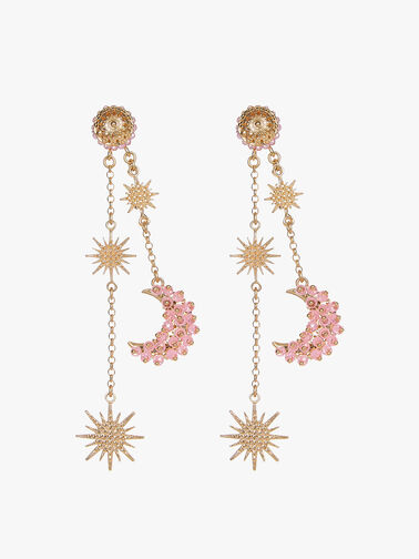Celestial Luna Pink Zircon Earrings