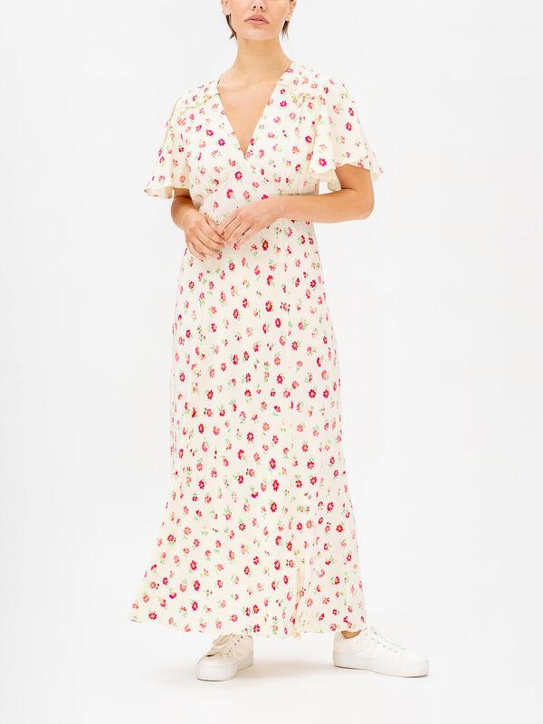 Bessie Floral V-neck Short Sleeve Dress