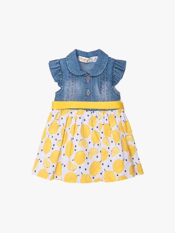 Denim Top & Lemon Skirt Dress