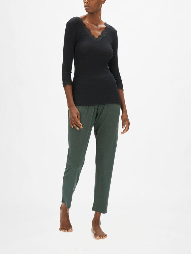 Woolen Lace 3/4 Sleeve Shirt
