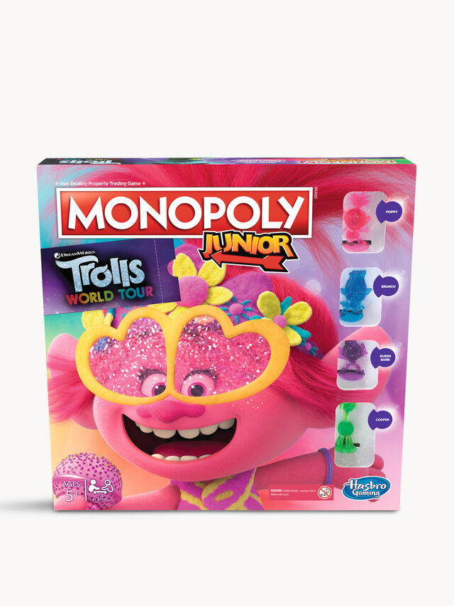 Monopoly Junior Trolls World Tour Edition