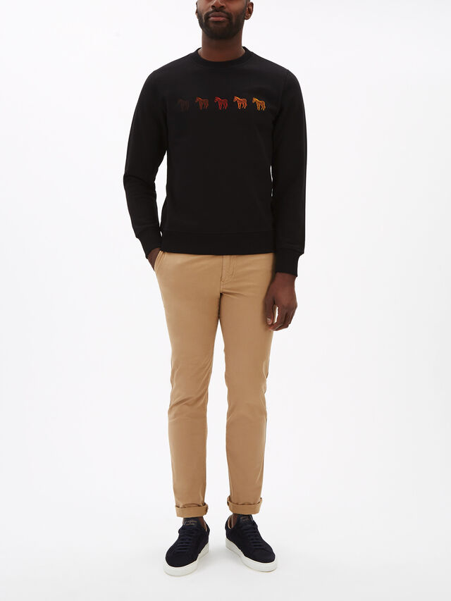 Zebra Gradient Motif Sweatshirt