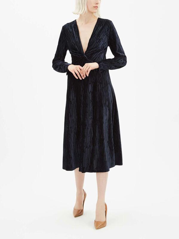 Priamo Velvet Wrap Dress