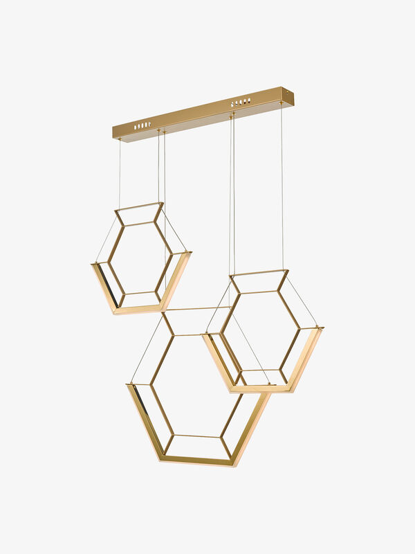 Hexagon 3lt Pendant