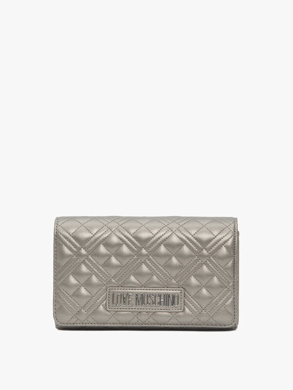 Quilted Flapover Crossbody Bag