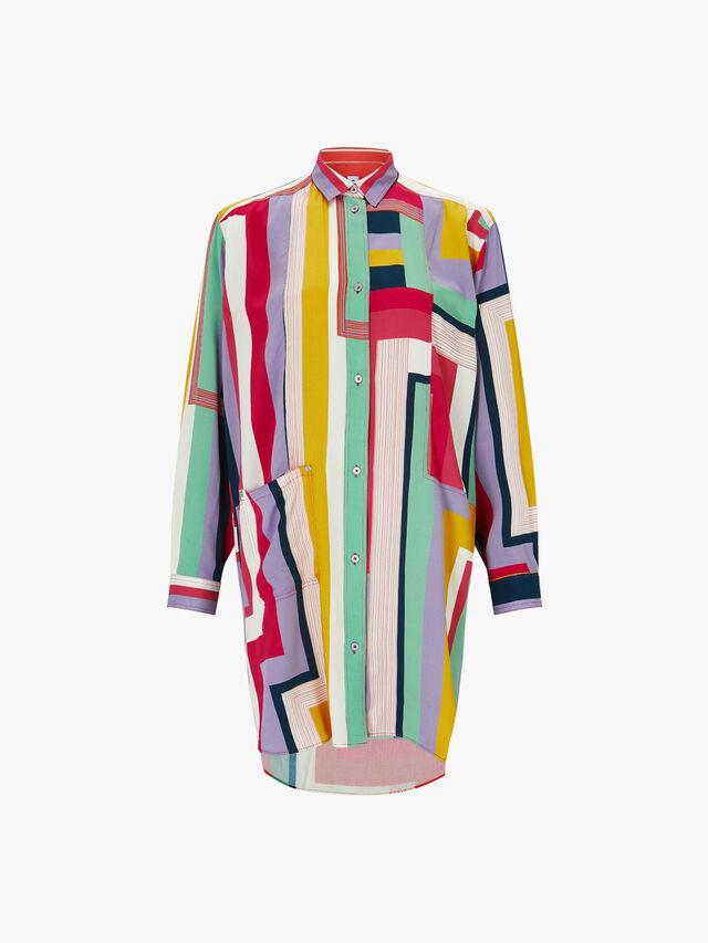 Zig Zag Shirt Dress
