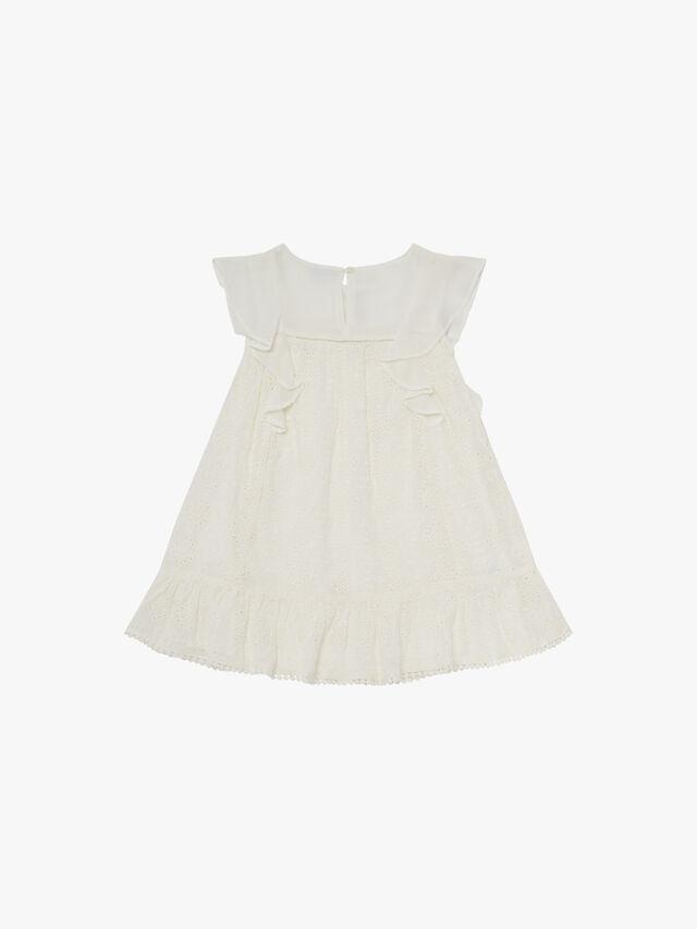Embroidery Anglais Ruffle Dress