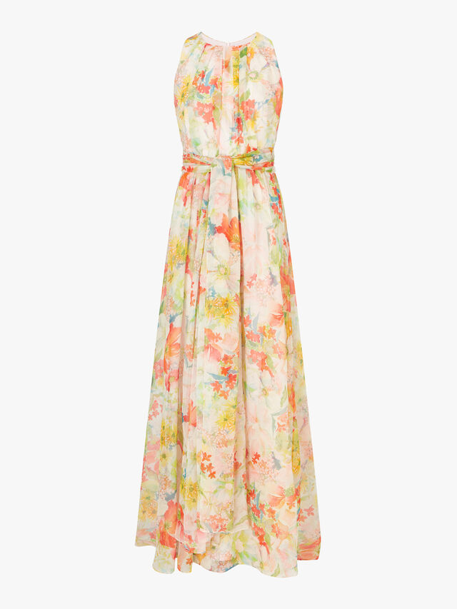 Mintea Maxi Belted Dress