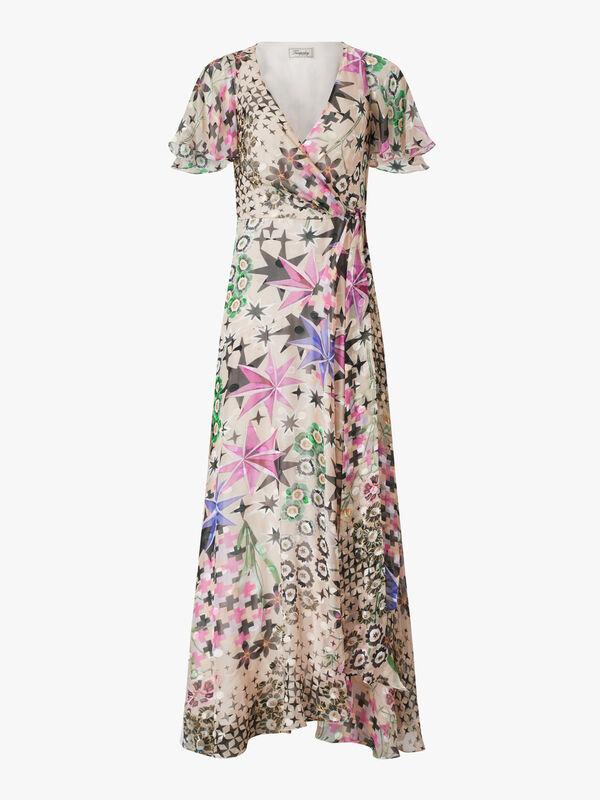 Claudette Wrap Long Dress