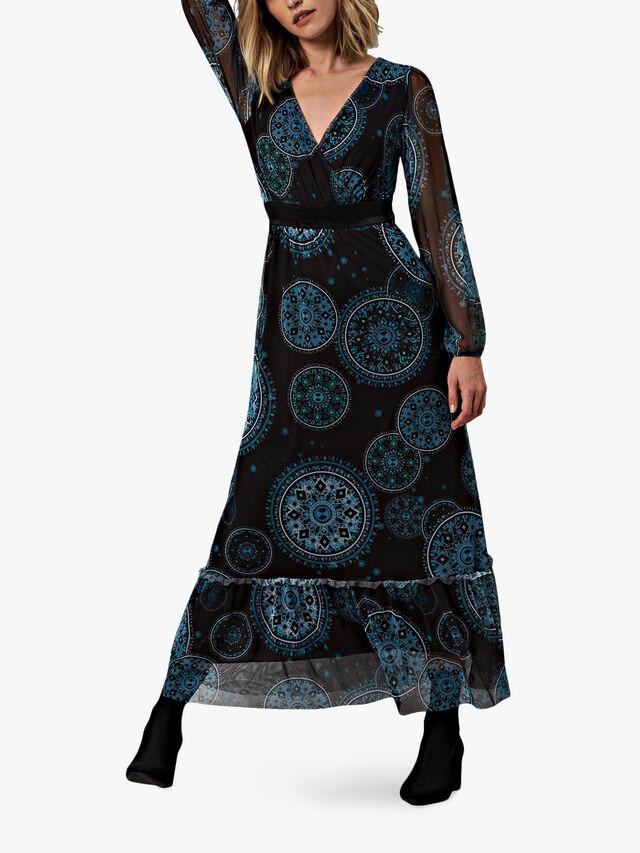 Sheer Sleeve Boho Dress
