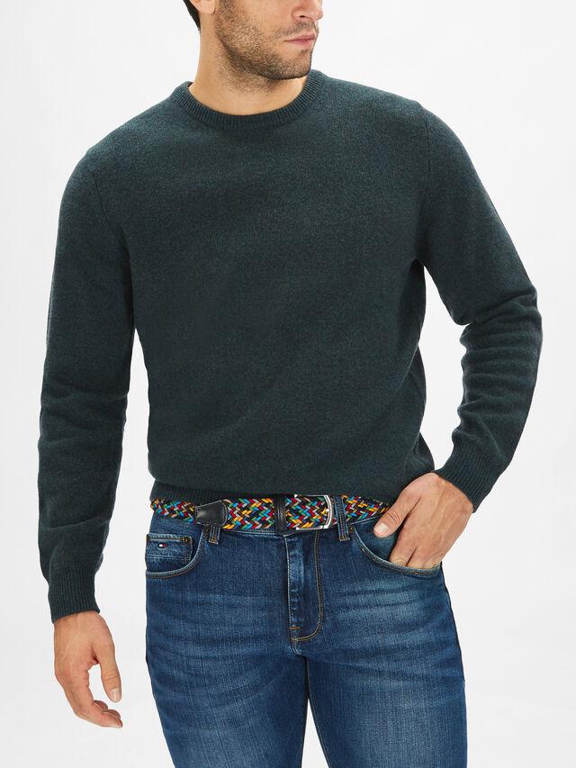 Elasticated Multicoloured Woven Belt