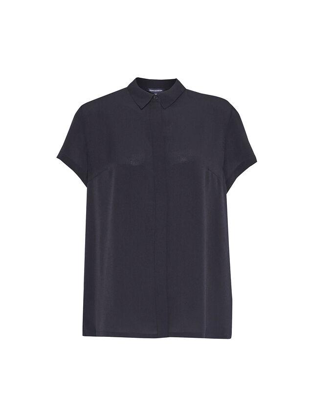 Crepe Light Pleat Back Shirt