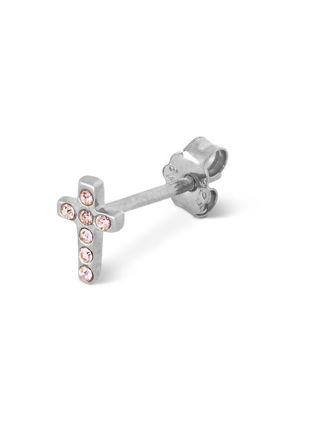 Cross Crystal Stud