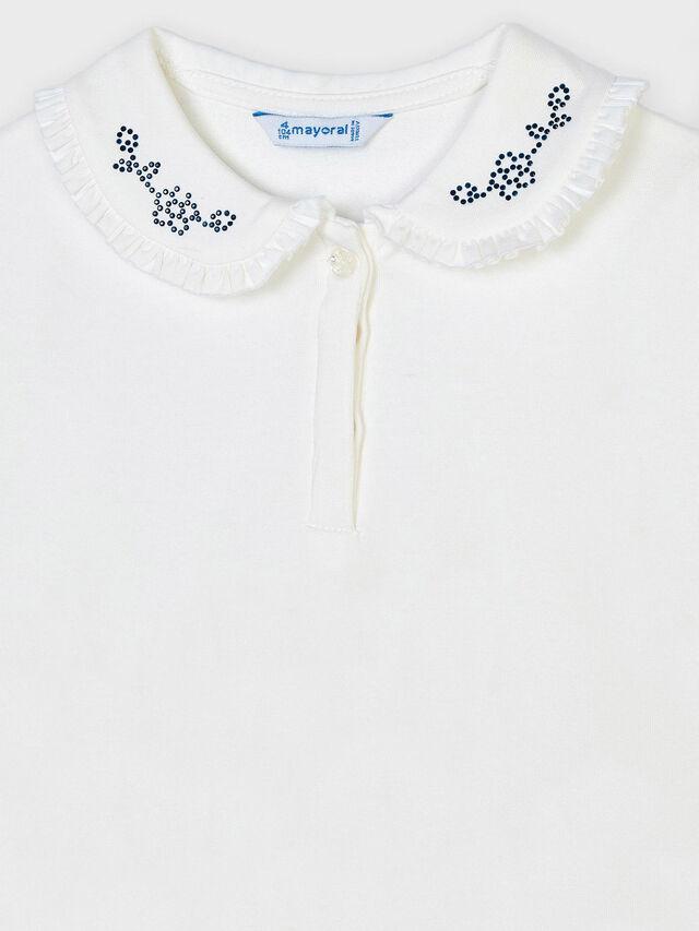 L/s basic polo diamante collar