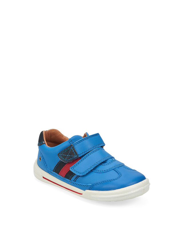 Seesaw Blue Leather Pre School Shoes